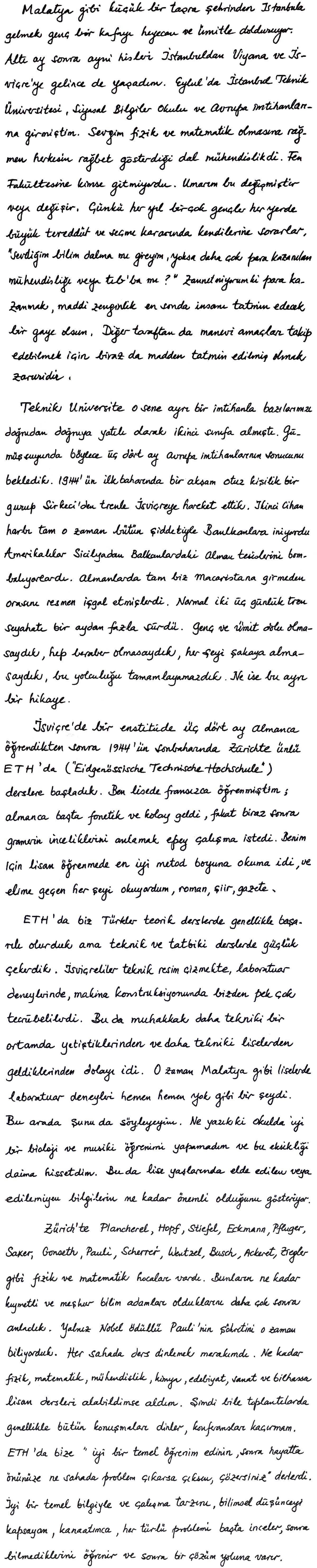 Asım Orhan Barut | Kendi el yazısıyla yaşam öyküsü